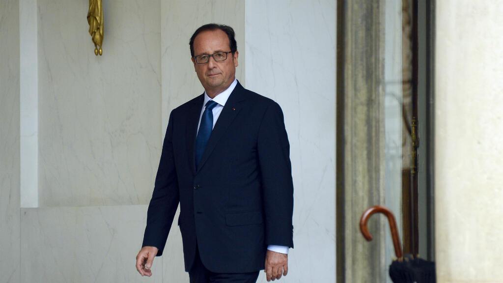 Le président français François Hollande, le 27 août 2014 à Paris