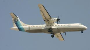 Avión ATR72 de Iran Aseman Ailines similar al accidentado en los montes Zagros.
