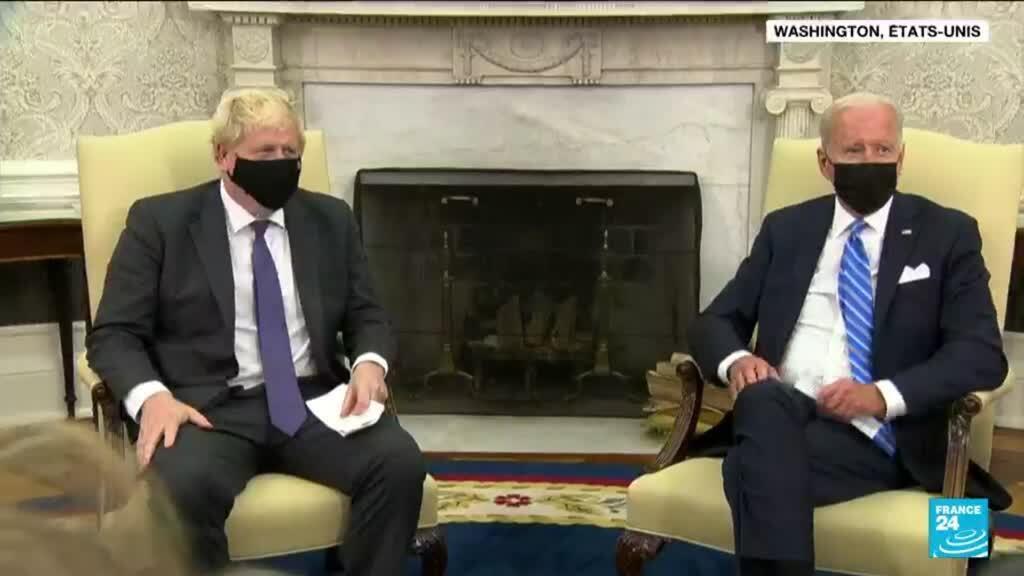 2021-09-22 10:01 Boris Johnson salue le partenariat militaire entre les Etats-Unis et l'Australie