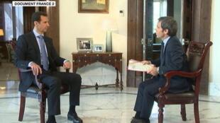 Le président syrien a été interviewé par David Pujadas le 19 avril à Damas.