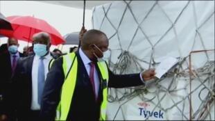 Le président sud-africain Ramaphosa.
