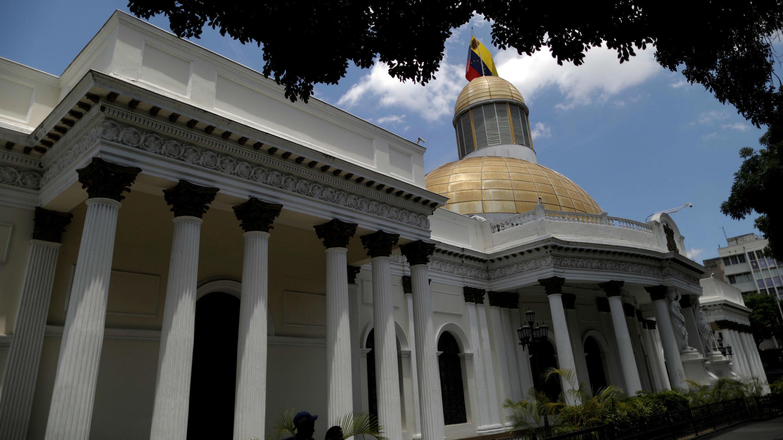 Vista general del edificio de la Asamblea Nacional de Venezuela en Caracas, el 10 de mayo de 2019.