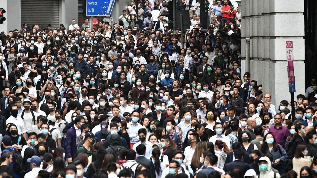 Imagen de una de las protestas multitudinarias en Hong Kong para reclamar una mayor democracia.