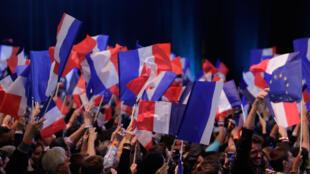 Soirée électorale d'Emmanuel Macron.