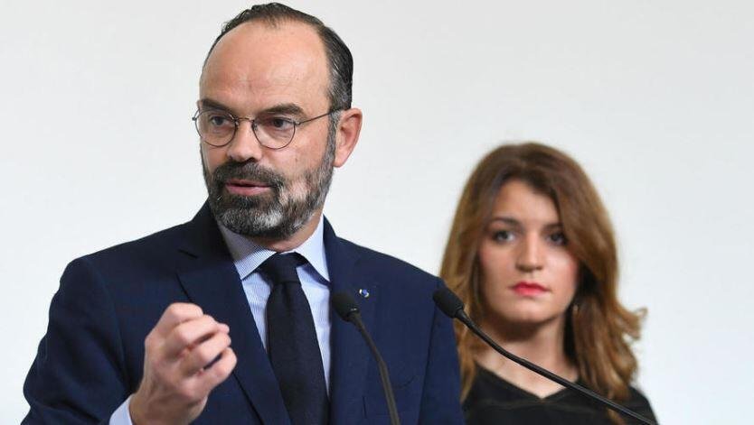 French Prime Minister Édouard Philippe, flanked here by France's Secretary of Gender Equality Marlène Schiappa, this week unveiled the details of the government's planned pension reform of which the country's women are deemed to be the 'big losers'.