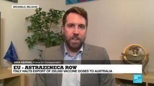 2021-03-04 18:02 EU, Italy stop AstraZeneca vaccine exports to Australia