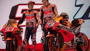 Marc Marquez welcomed his younger, taller brother to the Honda team in Jakarta in February