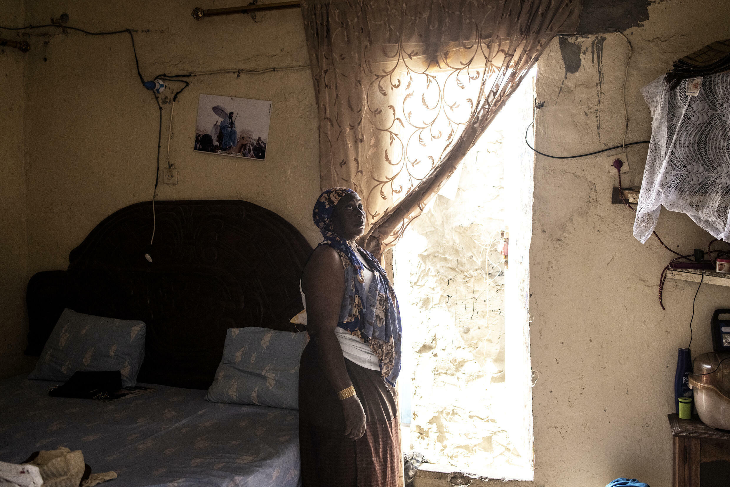 Mareme Gueye, 43, says six of the seven rooms in her house are missing, washed away by the ocean
