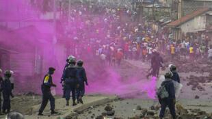 Intervention des forces de l'ordre congolaises à Goma, le 19 septembre 2016.