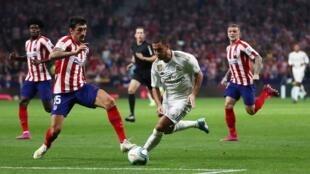 أتلتيكو مدريد يواجه ريال مدريد على أرضية ملعب واندا متروبوليتانو. 28 سبتمبر/أيلول 2019.