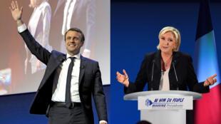 Emmanuel Macron et Marine Le Pen s'affronteront au second tour de la présidentielle.