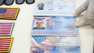 A handout picture released by the Venezuelan Presidency shows on May 4, 2020, passports of US citizens arrested by security forces in relation to a failed maritime 'invasion'