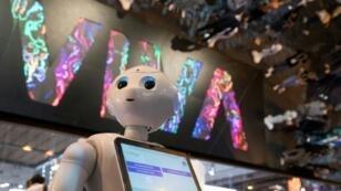 Le robot Pepper, lors du salon VivaTech de 2018 à Paris