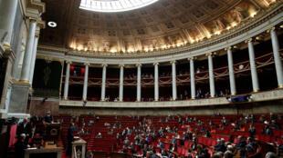 El primer ministro de Francia, Édouard Philippe, abre el debate sobre la inmigración en la Asamblea Nacional este 7 de octubre de 2019.