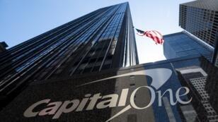 مقر مصرف كابيتال وان، نيويورك، 17 أبريل/نيسان 2019.
