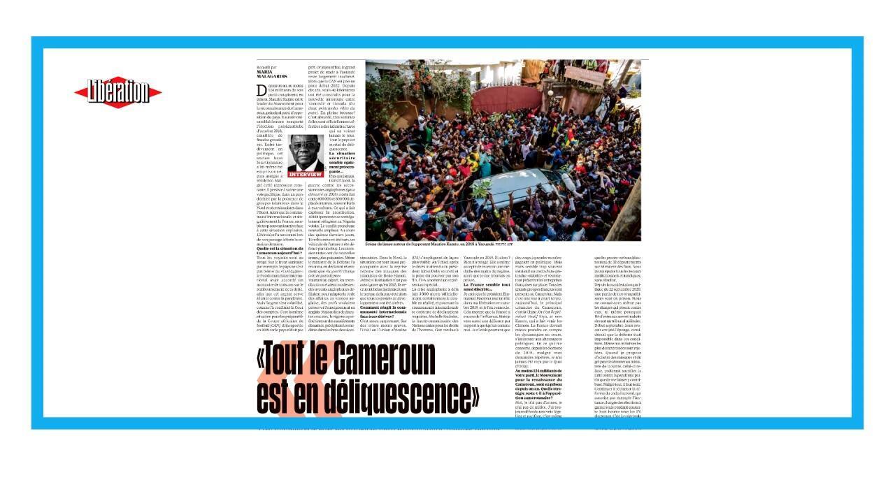 Entretien avec le chef du Mouvement pour la reconnaissance du Cameroun