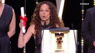 """Houda Benyamina, réalisatrice du film """"Divines"""", Caméra d'or du Festival de Cannes 2016."""
