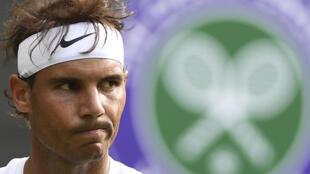 Rafael Nadal, durante un partido de la primera ronda del torneo de Wimbledon, el 2 de julio de 2019 al suroeste de Londres