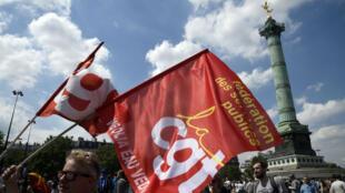 La précédente manifestation à Bastille a mobilisé entre 19 000 et 60 000 personnes à Paris, le 23 juin 2016.