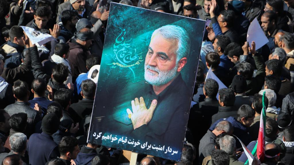 Funeral por la muerte del general Qassem Soleimani en Kerman, Irán.
