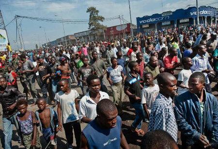 Manifestation dans les rues de Goma, samedi matin