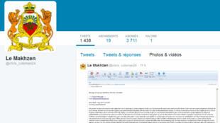 """صورة للحساب الرسمي لويكيليكس المغرب """"لو مخزن كريس كولمان24"""""""
