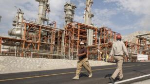 Le gisement gazier d'Asalouyeh dans le sud de l'Iran, le 19 novembre 2015.