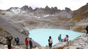 La cérémonie organisée au glacier du Pizol, le 22 septembre 2019.