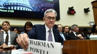 Jerome Powell, patron de la Réserve fédérale, le 10 juillet 2019 à Washington