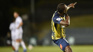 Usain Bolt, sous le maillot des Central Coast Mariners.