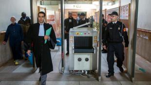 قاعة في محكمة الاستئناف بالدار البيضاء قبل جلسة محاكمة الصحافي توفيق بوعشرين في 8 مارس/آذار 2018