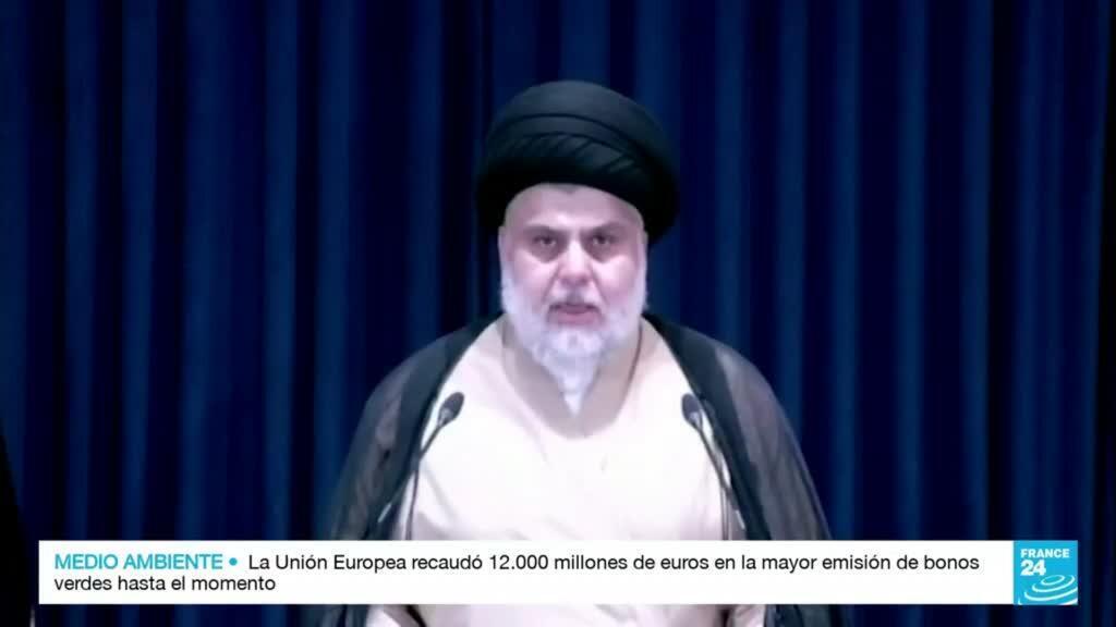 2021-10-12 22:40 Muqtada al Sadr, contra la injerencia extranjera en Irak