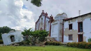 Une église endommagée par le séisme sur l'île d'Itbayat, dans l'archipel de Batanes, le 27 juillet 2019.