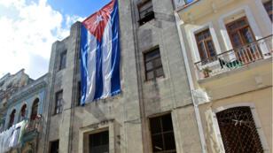 Una bandera cubana en La Habana el 27 de diciembre de 2018.