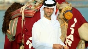 It's Novak of Arabia: Novak Djokovic dresses in a traditional Arab costume ahead of his Qatar Open first round match