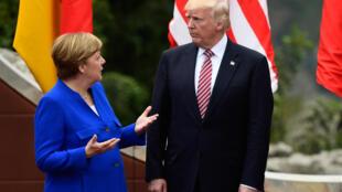 الرئيس الأمريكي دونالد ترامب والمستشارة الألمانية أتغيلا ميركل