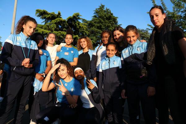 Les joueuses de l'association sportive Jeanne d'Arc, de Drancy, vont soutenir les Bleues durant tout le mondial.