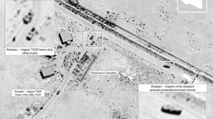 صور الاقمار الاصطناعية التي عرضها البنتاغون وتظهر امدادات أسلحة روسية في ليبيا