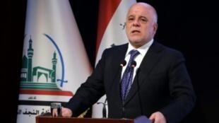 رئيس الوزراء العراقي حيدر العبادي في النجف في 7 كانون الثاني/يناير 2018