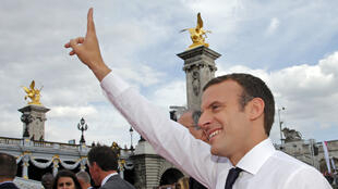 Emmanuel Macron lors des journées olympiques à Paris en juin dernier.