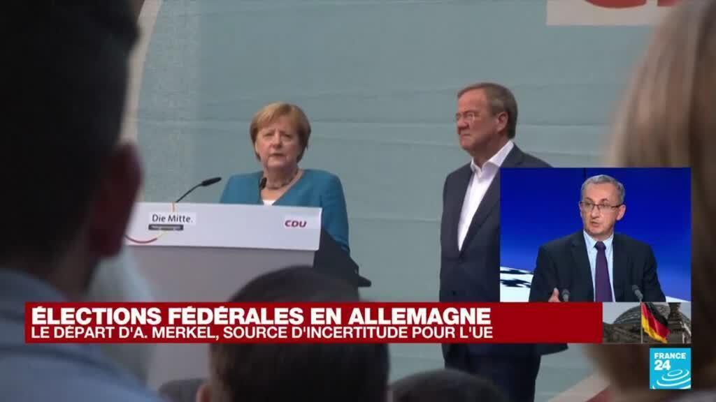 """2021-09-26 19:46 Élections fédérales en Allemagne : """"Qui sera en mesure de constituer une coalition"""" ?"""