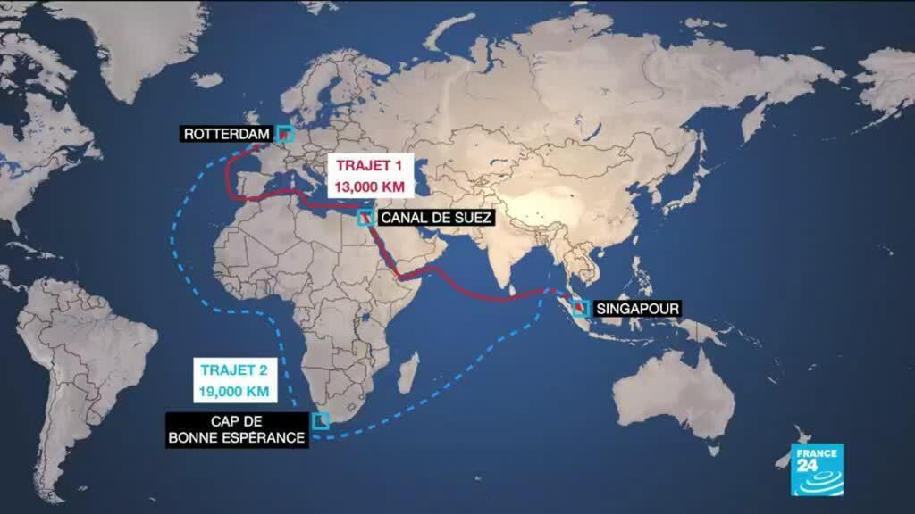 2021-03-25 14:14 Blocage du Canal de Suez : le commerce mondial tourne au ralenti