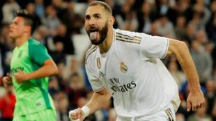Karim Benzema célèbre un but face à Leganes, le 30 octobre 2019.