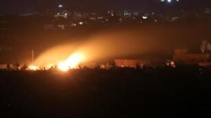 إطلاق نيران في بلدة الباغوز بدير الزور في سوريا - 3 مارس/ آذار 2019