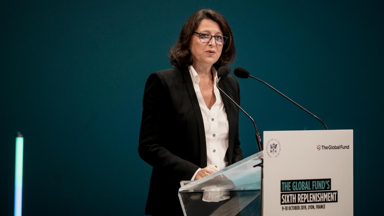La ministre de la Santé Agnès Buzin l'ouverture à Lyon lors de la conférence de refinancement du Fonds mondial, le 9 octobre 2019.