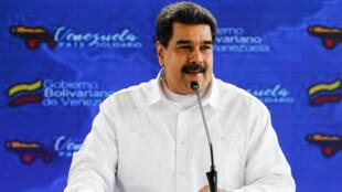 El presidente venezolano, Nicolás Maduro, ofrece declaraciones en Caracas Venezuela, el 25 de septiembre del 2018.