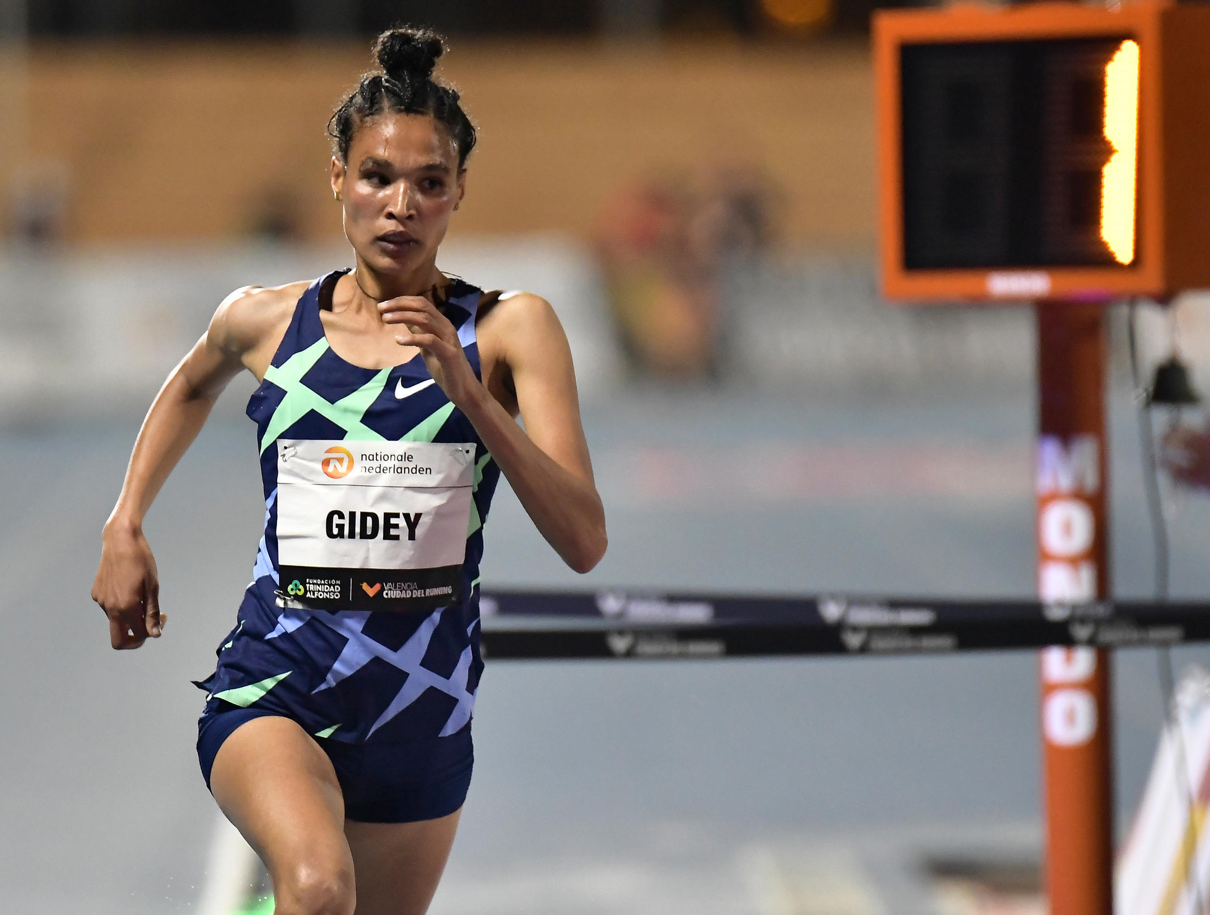 Ethiopia's Letesenbet Gidey now holds the women's world records for 5,000m and 10,000m