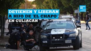 Fotografía cedida por El Debate de Sinaloa que muestra fuertes enfrentamientos entre grupos armados con las fuerzas federales, en Culiacán, México, el 17 de octubre de 2019.