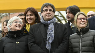 Carles Puigdemont à Bruxelles, le 12 janvier 2018.