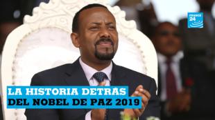 El recién elegido primer ministro de Etiopía, Abiy Ahmed, asiste a una manifestación durante su visita a Ambo en la región de Oromiya, Etiopía, 11 de abril de 2018.